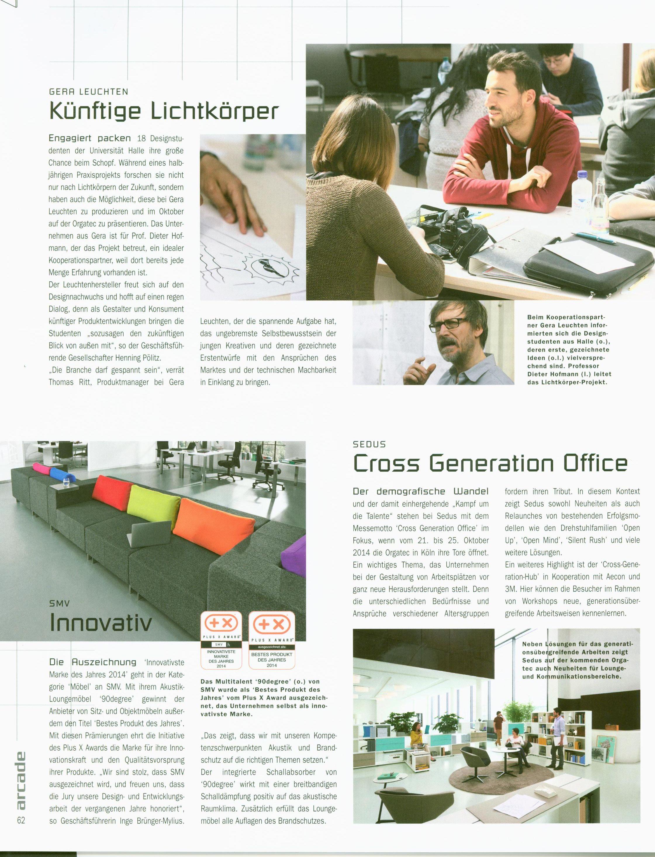 Press publications | GERA - Leuchten und Lichtsysteme