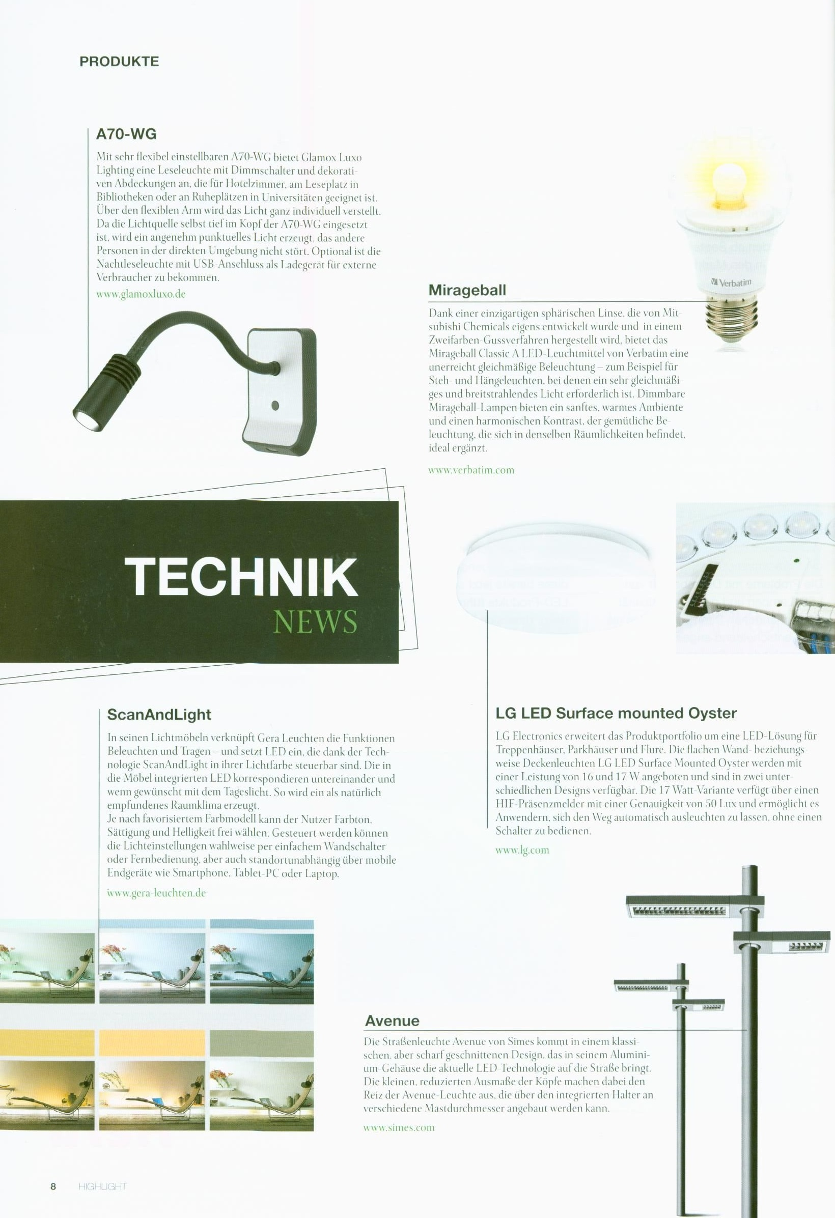 Pressemeldungen | GERA - Leuchten und Lichtsysteme